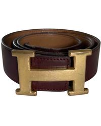 Hermès H Leder Gürtel - Mehrfarbig