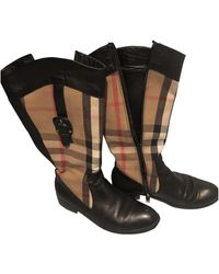 Burberry Vintage - Leather Boots - Black