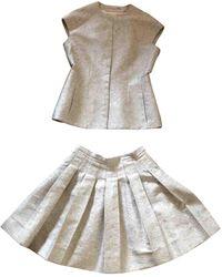 Dior Giacca in seta grigio