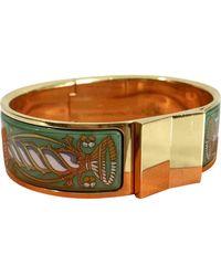 Hermès Gold Metal Bracelet - Metallic