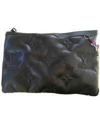 Louis Vuitton Pochette A4 Black Leather Bag
