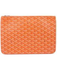 Goyard Cloth Clutch Bag - Orange