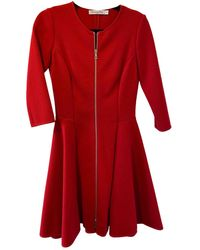 Dior Wool Mid-length Dress - Red