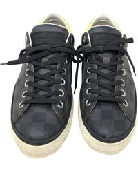 Louis Vuitton Gray Leather Sneakers