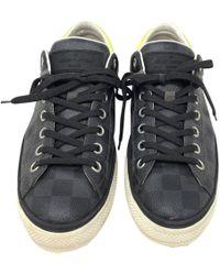 Louis Vuitton Gray Leather