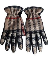 Burberry Wolle Handschuhe - Schwarz