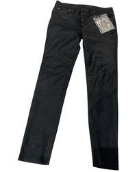 BLK DNM Leather Slim Trousers - Black