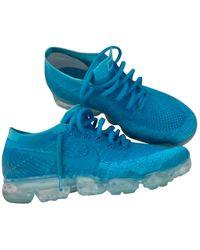 Nike Air VaporMax Leinen Niedrige turnschuhe - Blau