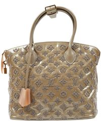 Louis Vuitton Borsa a mano in vernice verde Lockit