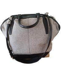 Alexander Wang Emile Wool Handbag - Grey
