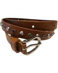 Isabel Marant Leather Belt - Brown