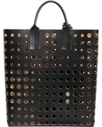 Marni - CABAS CUIR PERFORE - Lyst