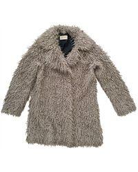 Zadig & Voltaire Faux Fur Coat - Grey