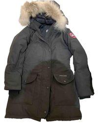 Canada Goose Black Fur Coat Trillium