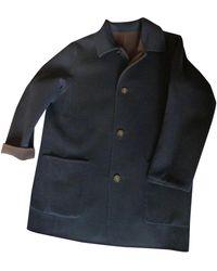 Ferragamo Wool Coat - Blue