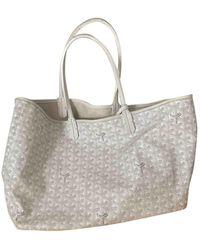 Goyard Leather Tote - White