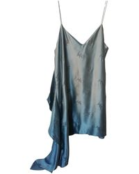 Cinq À Sept Silk Mid-length Dress - Blue