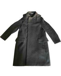 Carven Cappotto in lana antracite - Nero
