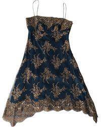 Jenny Packham Vestido en viscosa azul