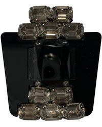 Marni Broche en cristal negro