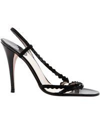 Dior Lackleder Sandalen - Schwarz