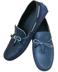 Louis Vuitton Leder Mokassins - Blau