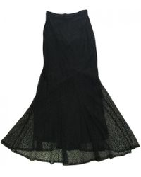 Chanel - 100% Authentic Black Long Lace Maxi Skirt - Lyst