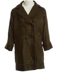 Diane von Furstenberg Khaki Synthetic Coat - Natural