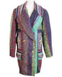 Christian Lacroix Multicolour Wool Coat - Blue