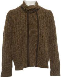Dries Van Noten - Pre-owned Khaki Cotton Knitwear & Sweatshirts - Lyst