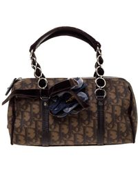 Dior Velvet Satchel - Brown