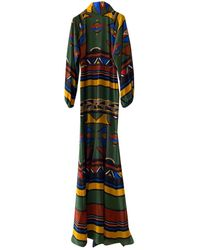 Stella Jean Silk Maxi Dress - Multicolour