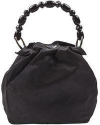 Dior Bolsa de mano en lona negro Malice