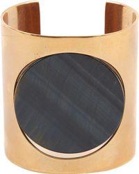 Céline - Gold Metal Bracelet - Lyst