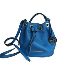 Michael Kors Jules Blue Leather Handbag