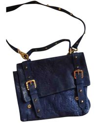 Balmain Leather Satchel - Blue