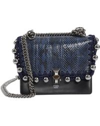 4d4c9ef69d0e Fendi - Pre-owned Kan I Black Water Snake Handbags - Lyst