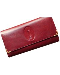 Cartier Red Leather Wallets