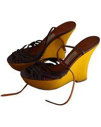 Lanvin Yellow Patent Leather Heels