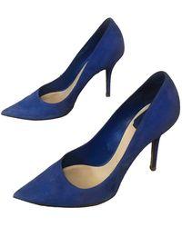 Dior D-stiletto Blue Suede Heels