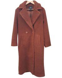 Maje Cappotto in lana marrone Fall Winter 2019