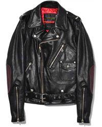 Rag & Bone Leather Biker Jacket - Black