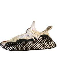 adidas Baskets Deerupt Runner en Toile Blanc - Multicolore