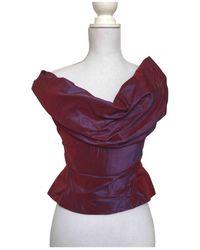 Vivienne Westwood Seide Bustier - Rot
