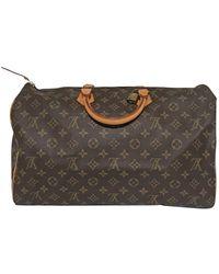 Louis Vuitton Vintage Speedy Brown Cloth Handbag