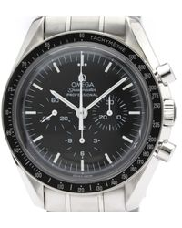 Omega Speedmaster Reduced Black Steel Watch
