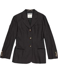 Moschino - Grey Wool Jacket - Lyst