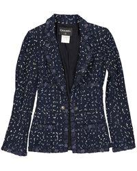 Chanel Vest en Coton Bleu