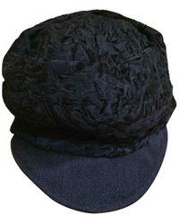 Marni Astrakhan Cap - Black