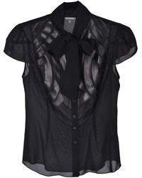 Zac Posen Silk Blouse - Black